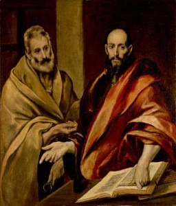 Pedro e Paulo. El Greco. Incidente de Antioquia