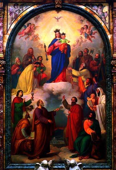 O quadro acima foi idealizado por Dom Bosco e pintado por Tomás Lorenzone (1824/1902).  A obra mede 4m de largura por sete de altura, e levou três anos para ser concluída. Está na Basílica Maria Auxiliadora, em Turim